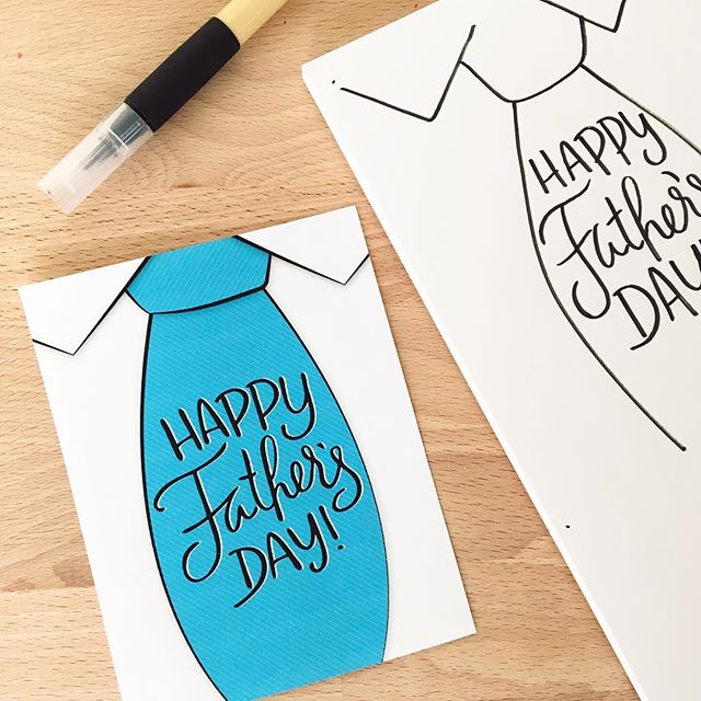 New card coming later today to the shop 💌 .  #fathersday #dad #father #card #daddy #daddysgirl #cards #sketch #brushpen #brushpenlettering #doodle #lettering #tie #snailmail #snailmailrevolution #calligraphy #dowhatyoulove #diy #love #cute #papa #pops #mompreneur #scatterbrain