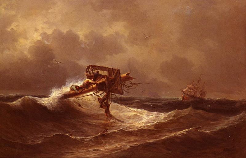 Ivan Konstantinovich Aivazovskii, The Rescue, 1849