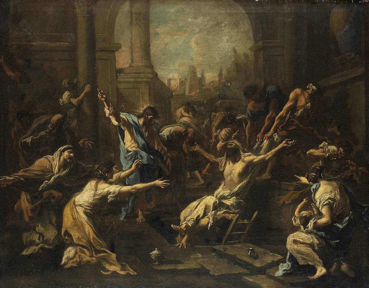 Alessandro Magnasco, The Raising of Lazarus, 1715/1740   Placements:  BACK & GLUTES | CHEST & ABS | CHEST, ABS & LEG | 1 ARM, CHEST & ABS | HEAD, NECK, CHEST, ABS & THIGH | HEAD, NECK, BACK, GLUTES & THIGH |