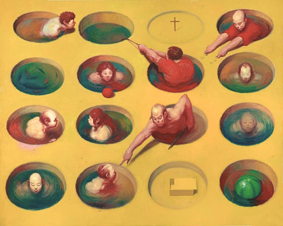 Wainer Vaccari, I miei coloni, 1986   Placements: BACK | CHEST & ABS | 1 ARM, CHEST, ABS & NECK | HEAD & NECK | HEAD & BACK | THIGHS & ABS | THIGHS | BACK, 1 ARM & NECK |