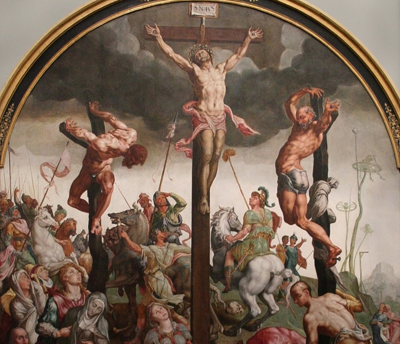 Maerten van Heemskerck, Calvary, 1543 .   PLACEMENTS:  BACK | CHEST & ABS | CHEST, ABS & LEGS | 1 ARM, CHEST, NECK & ABS | BACK & NECK | ARMS, CHEST & NECK | 1 ARM, CHEST & NECK | ARMS, CHEST, ABS & BACK | THIGHS | BACK & ARMS | 1 ARM, BACK & HEAD | ARMS |