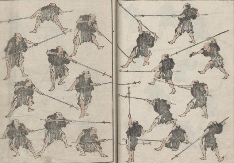 Hokusai, Random Sketches by Hokusai, Volume 6,  Hokusai manga