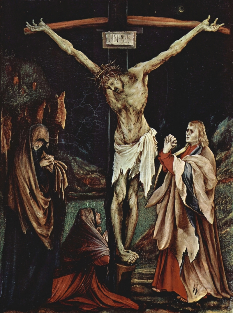 Matthias Grünewald, The Small Crucifixion, 1510.    PLACEMENTS:  BACK | BACK, GLUTES & LEGS | CHEST & ABS | 1 ARM, CHEST, NECK & ABS | HEAD | HEAD & NECK | ARMS, CHEST & ABS | 1 ARM, CHEST & ABS | ARMS, CHEST, ABS & BACK | ABS & THIGHS | BACK & ARMS | HAND & ARM | NECK & CHEST | BODYSUITE |