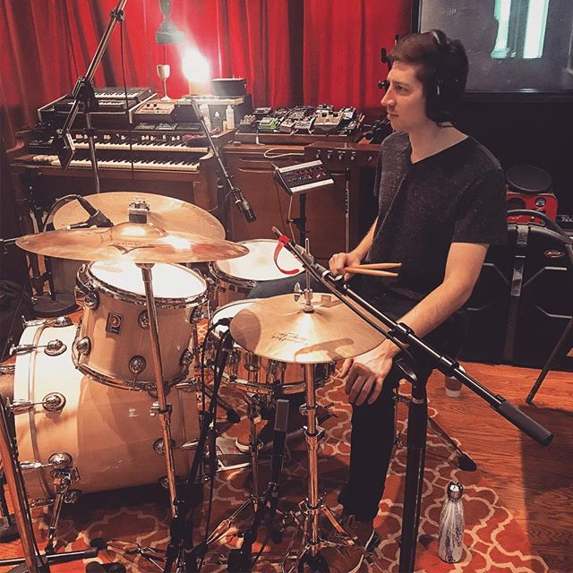 Recording with @danieljaywoods today. 4 original songs! Super pumped to be at Rarefied at their gorgeous studio! #drums #drummer #drumming