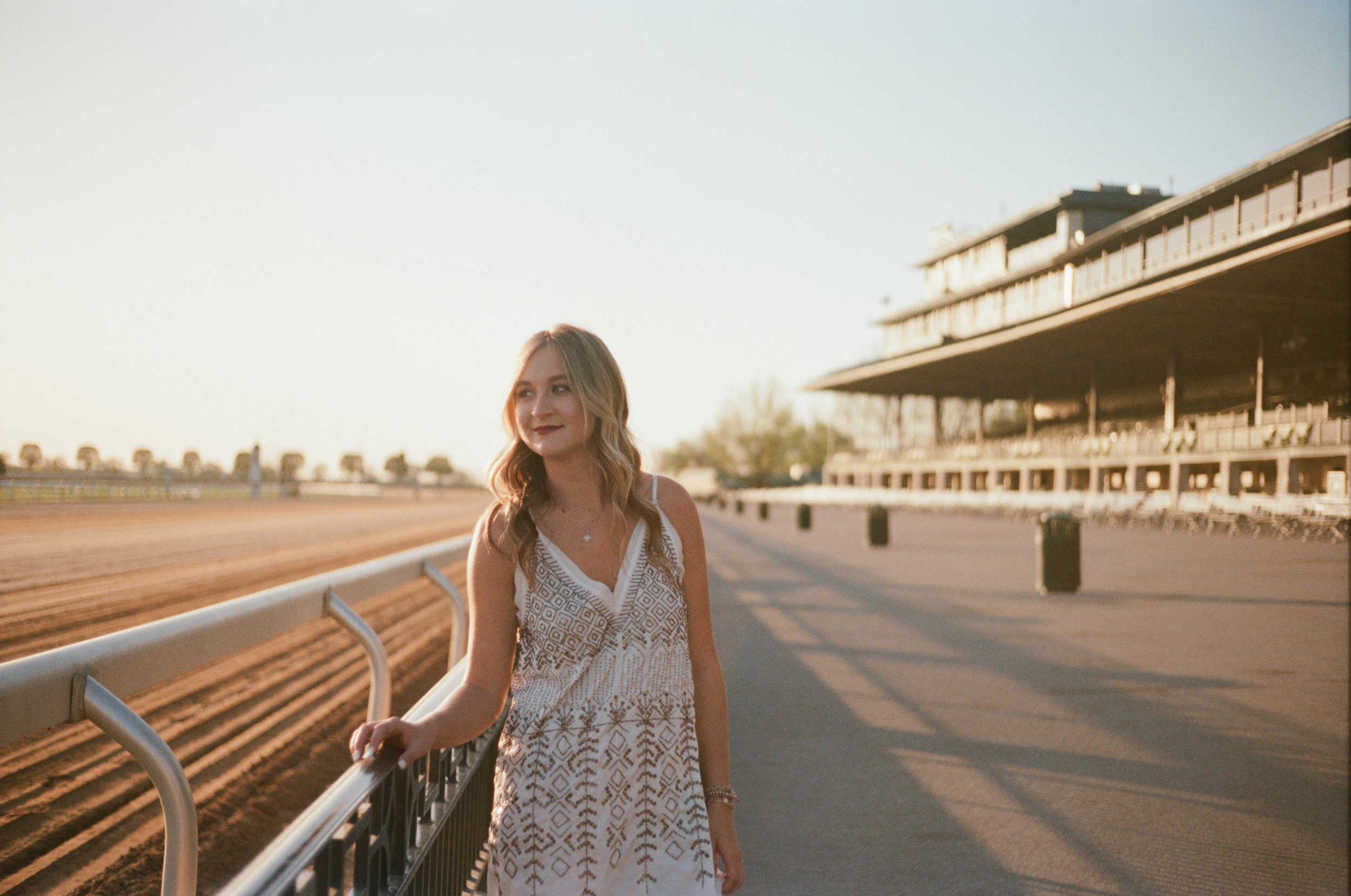 Elise at Keeneland on Portra 160 35 mm film