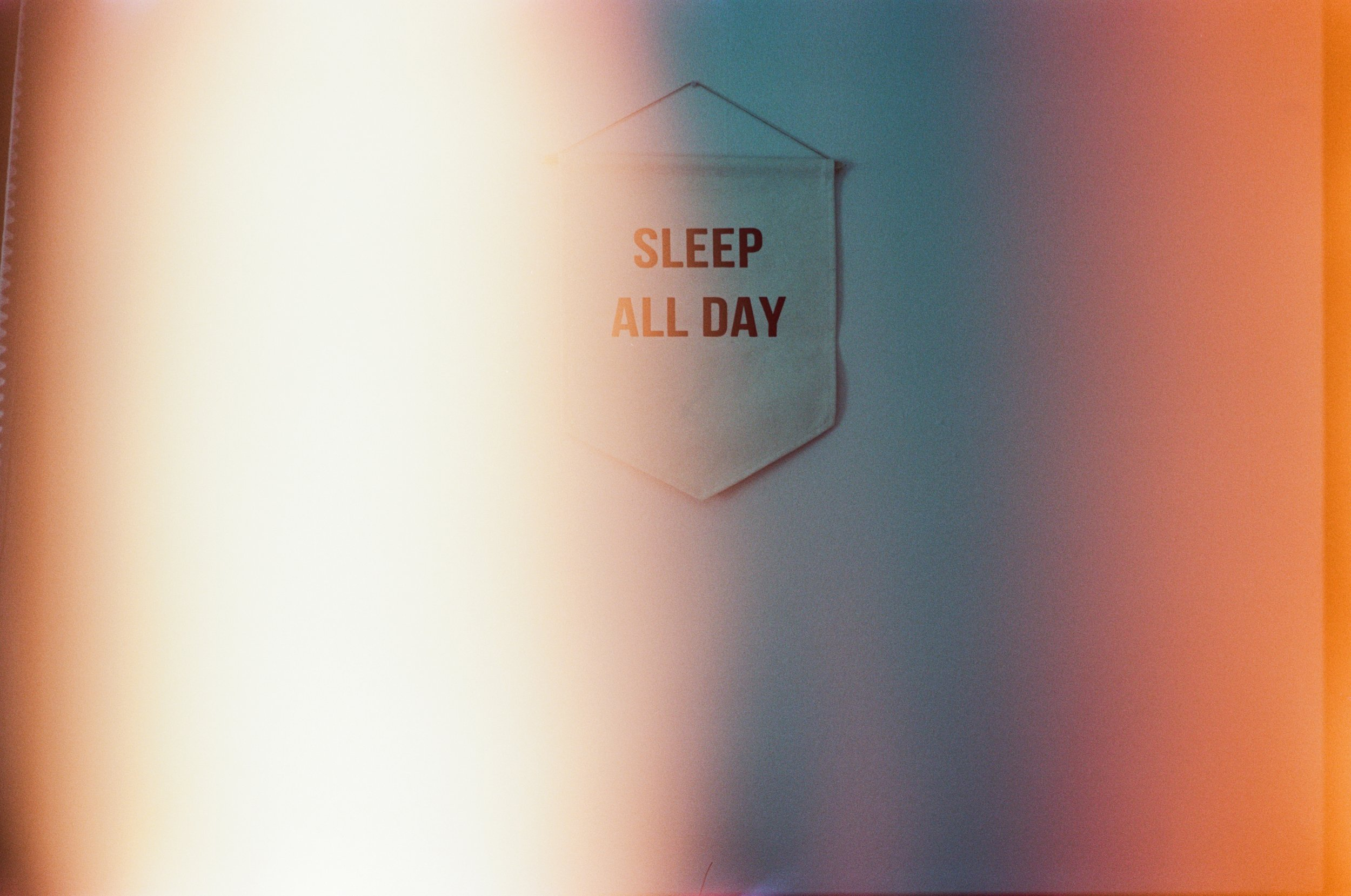 Words to live by on Portra 160 35 mm film