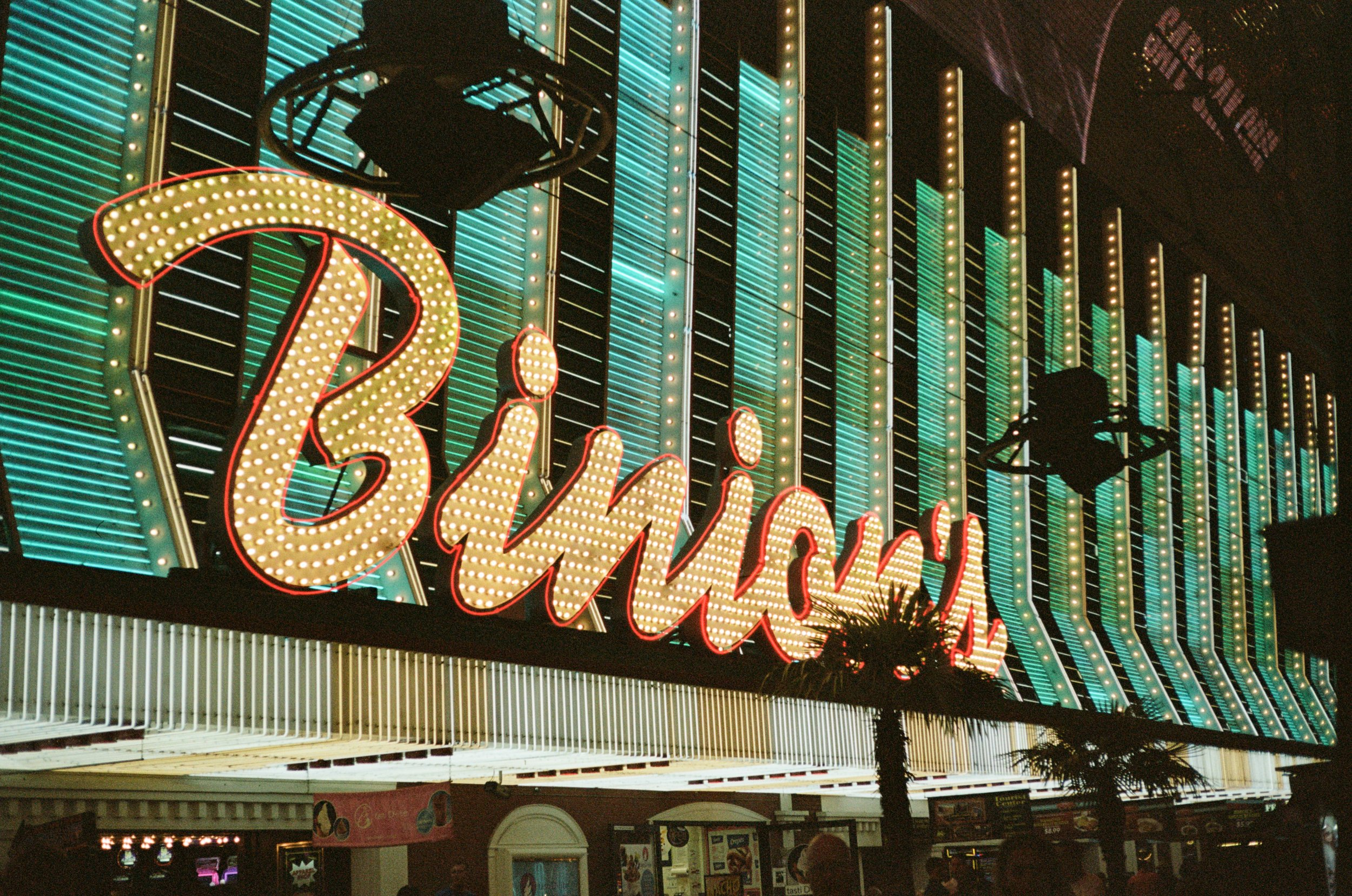 - I took my grandfather's film camera with us to Vegas and love how all the lights turned out with the grain + all.