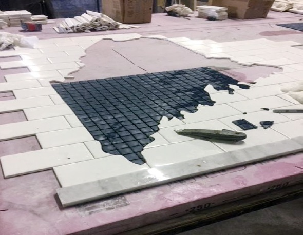 Fully custom hand-cut mosaic
