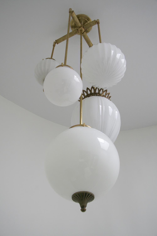 Brilliant 5 Globe Lighting Fixture With