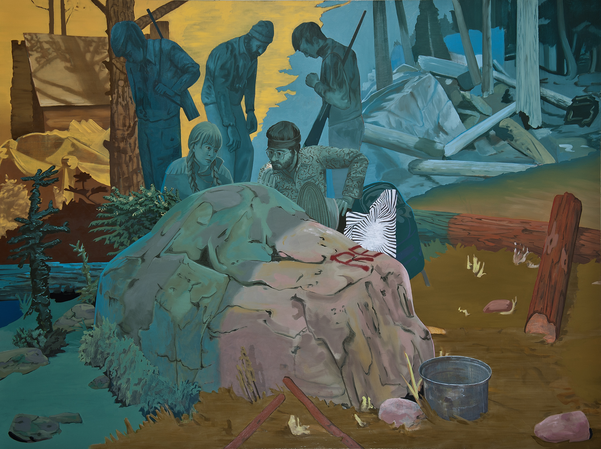 iDEATH (edibles) , 2013. oil on canvas, 72 x 96 inches