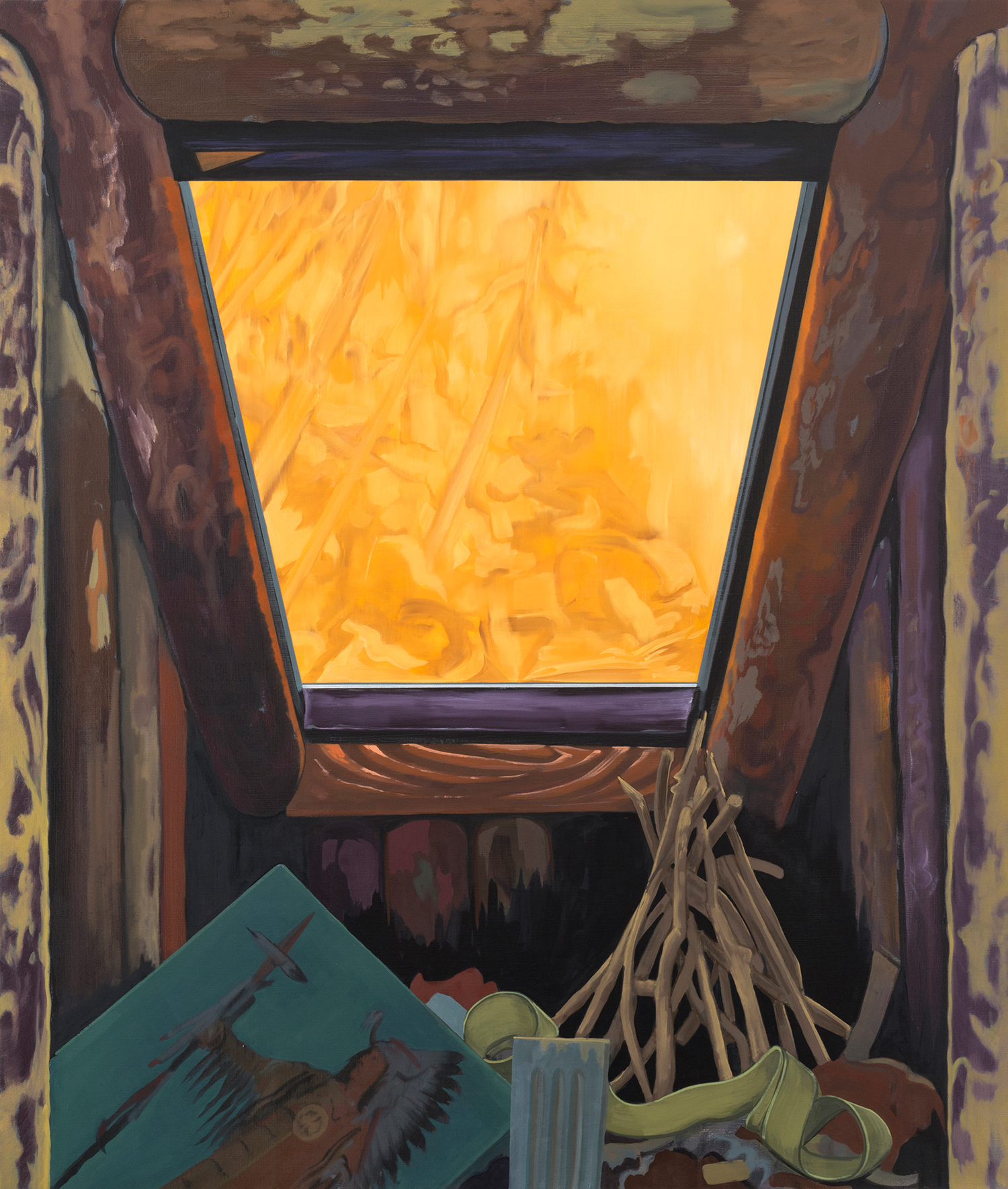 Bunker , 2013. oil on canvas, 72 x 60 inches