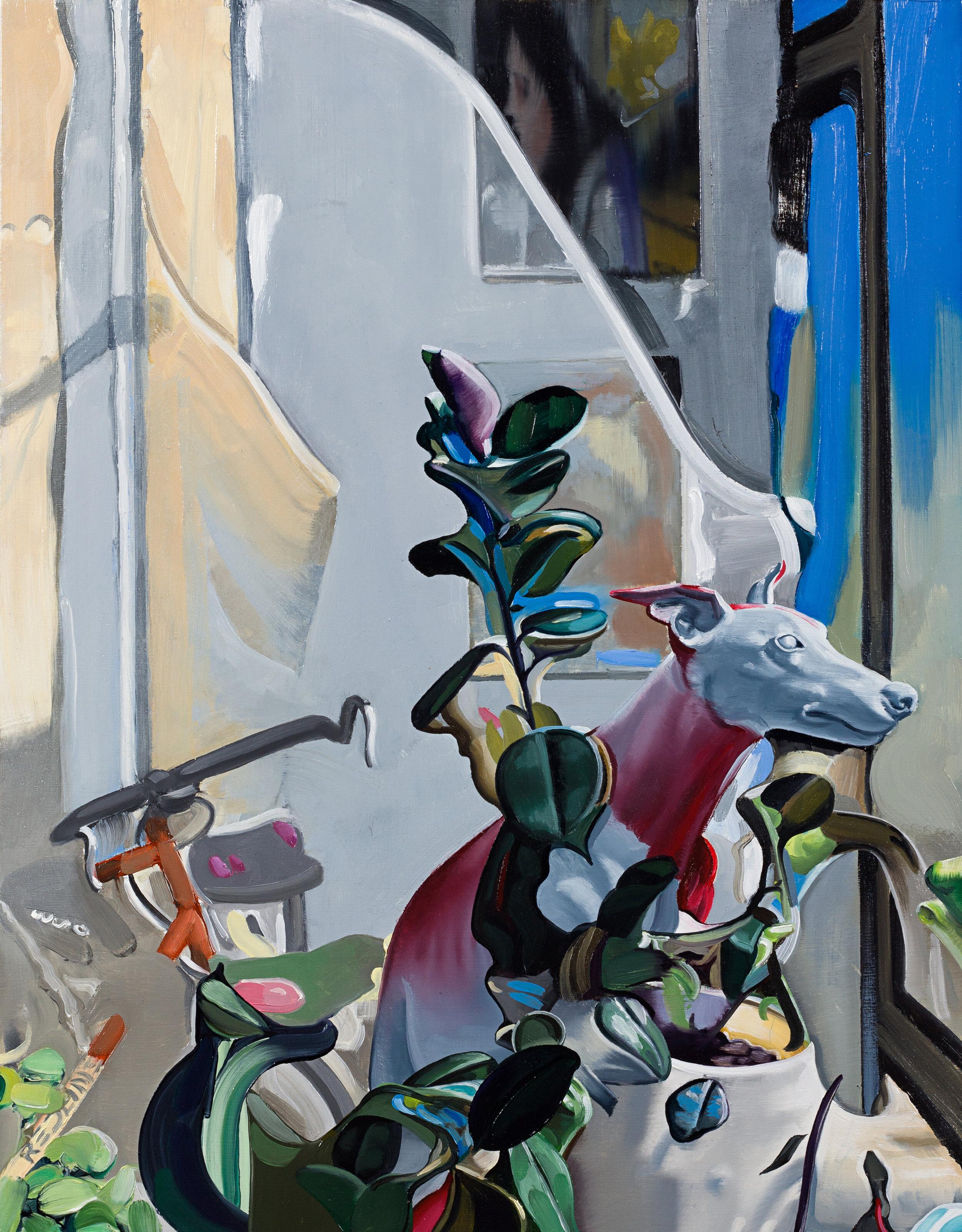Studio II,  2019. Oil on panel, 14 x 11 inches