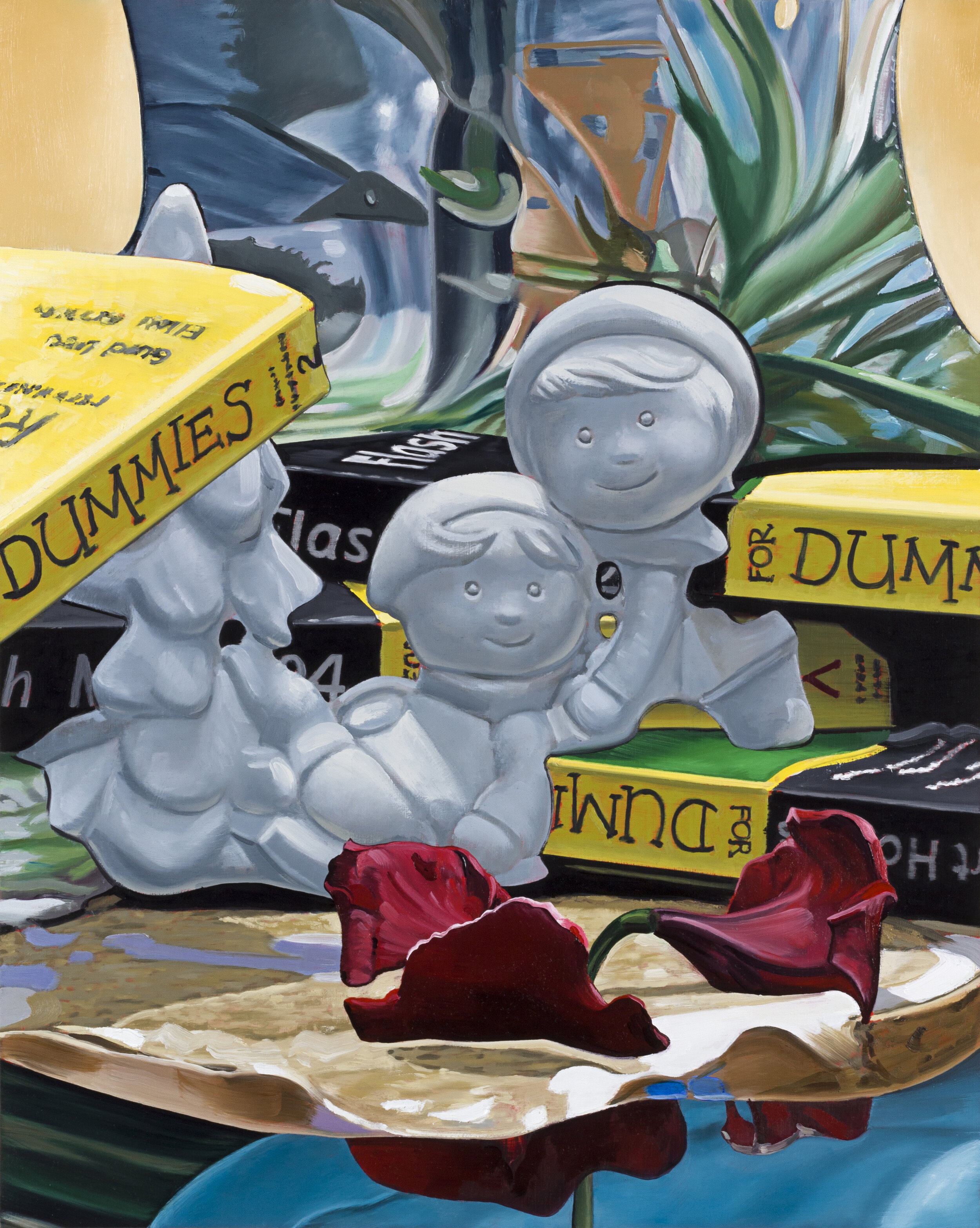 Dummies,  2019. Oil on panel, 20 x 16 inches
