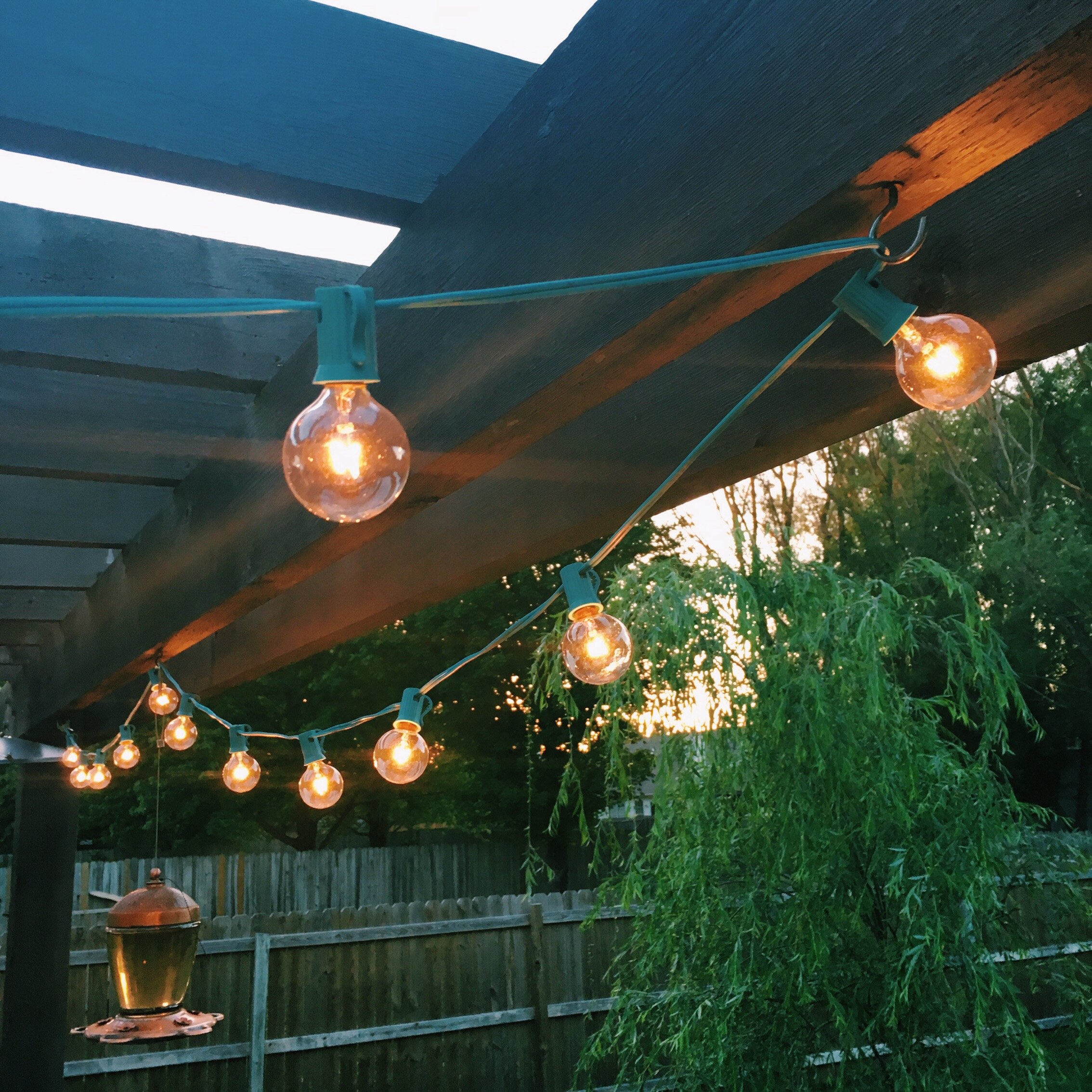 My husband built this pergola. He is awesome.