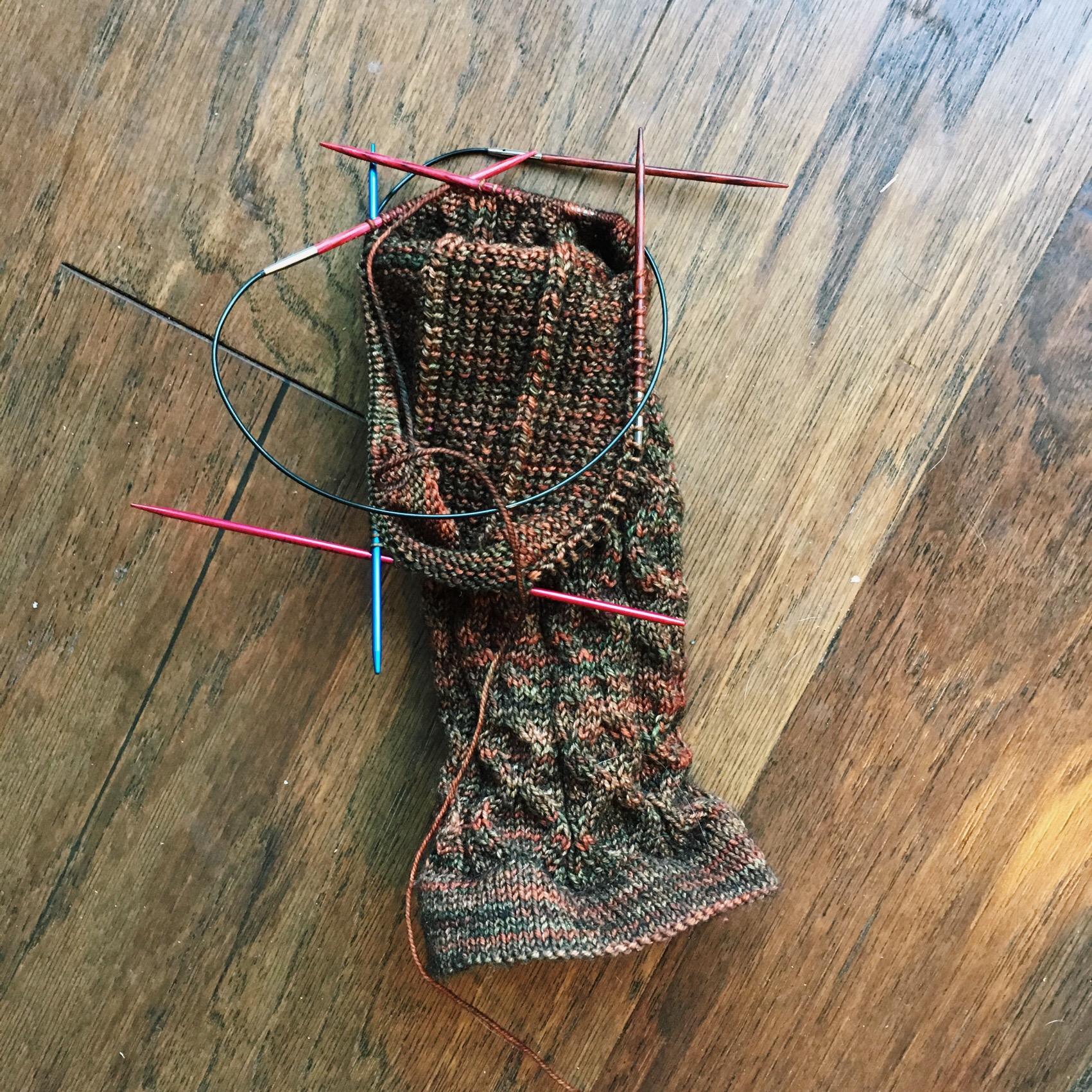 The beginnings of said socks.