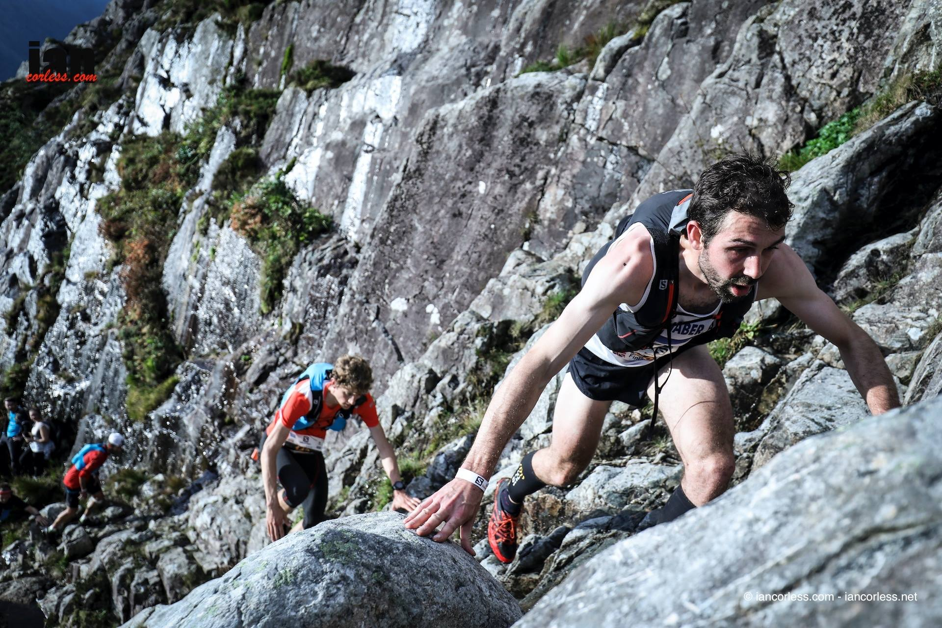Seven times winner of the Ben Nevis race, Finlay Wild during this years Skyline © iancorless.com