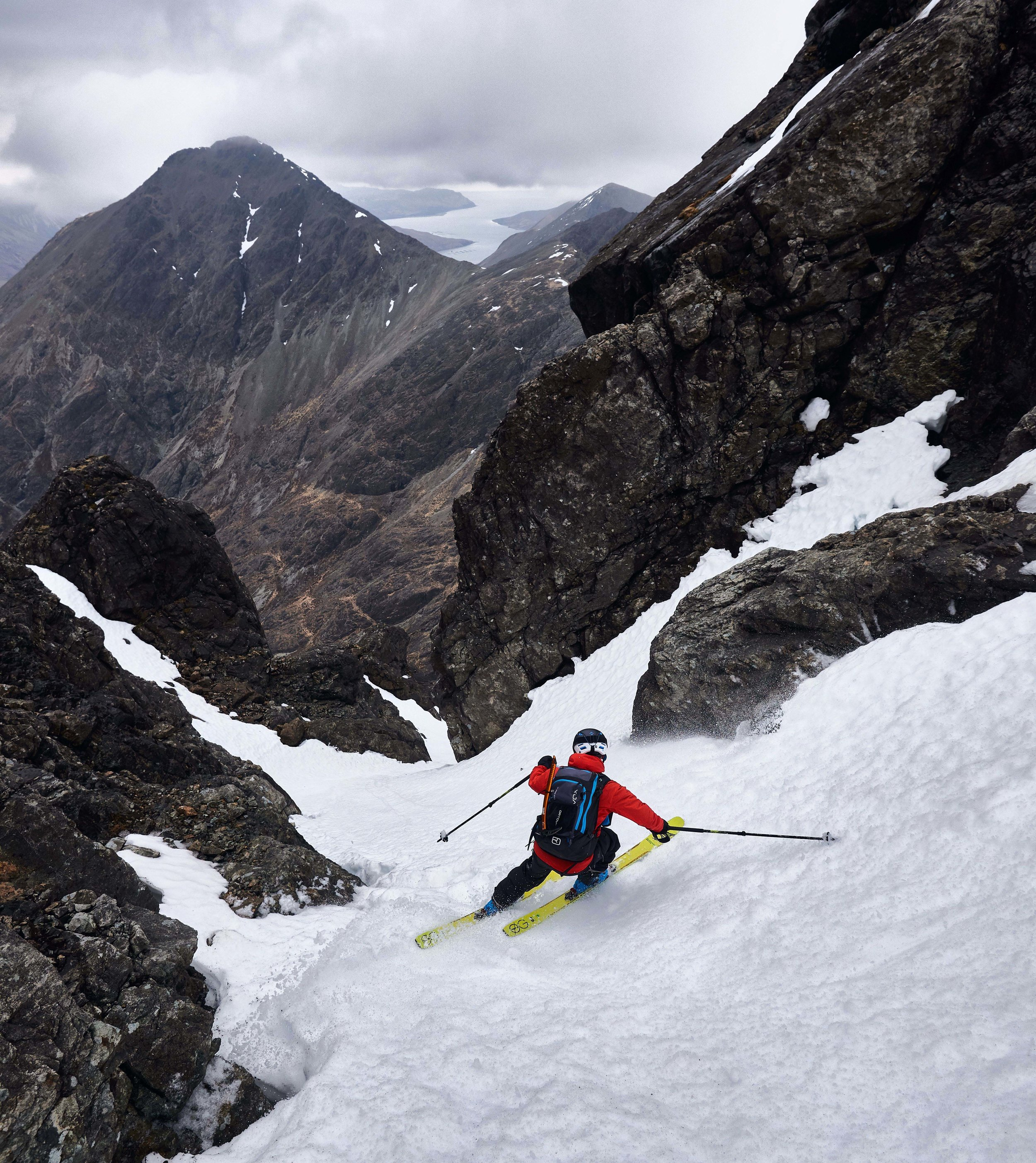 Dave negotiating the narrows of Summit Gully.