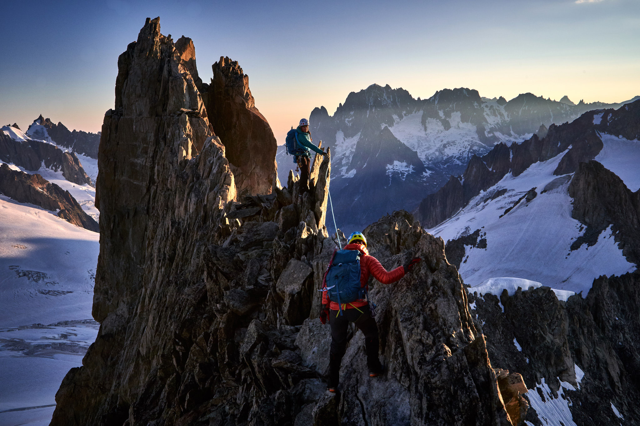 Sunrise on the Aiguille d'Entrèves