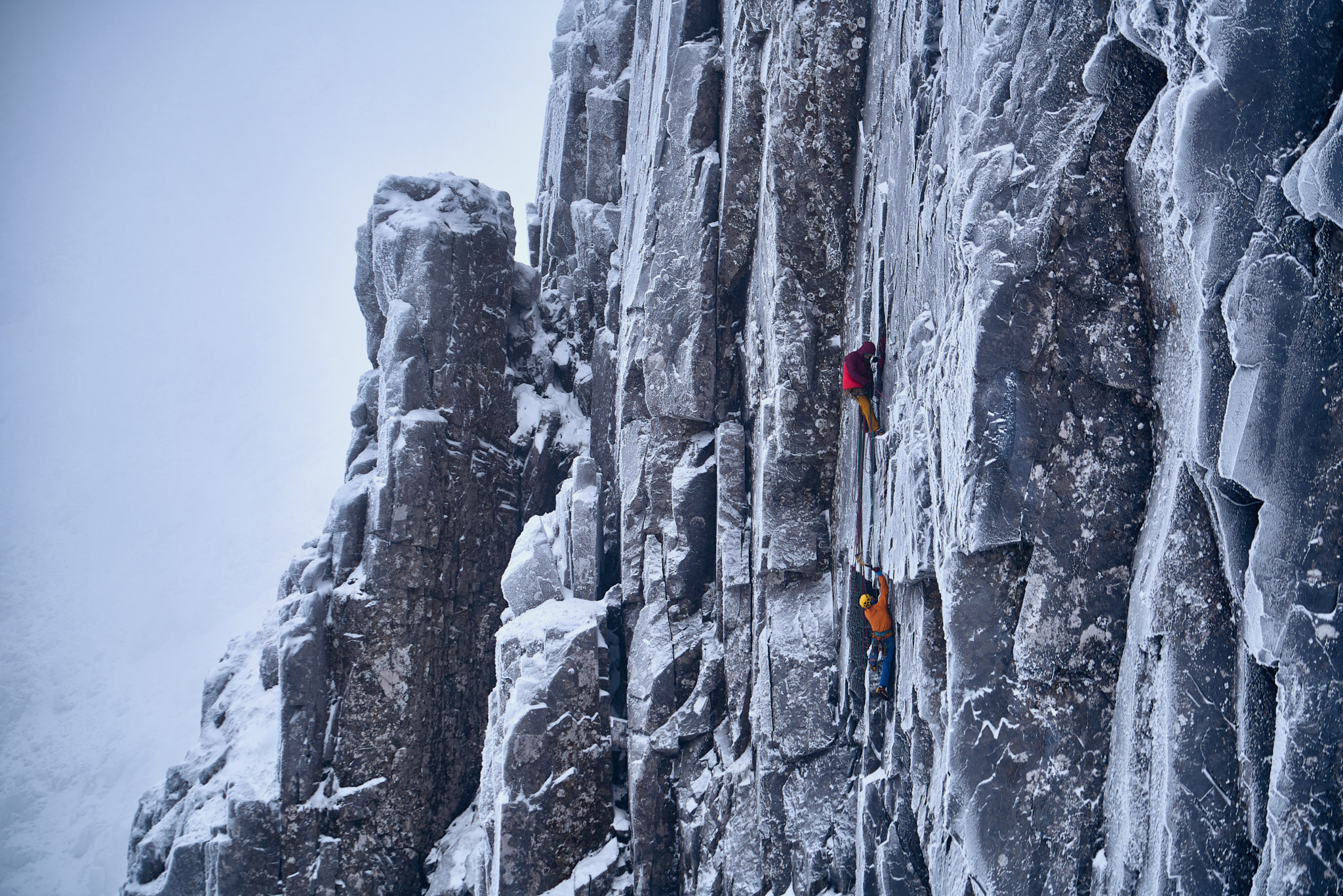 Guy follows up the crux