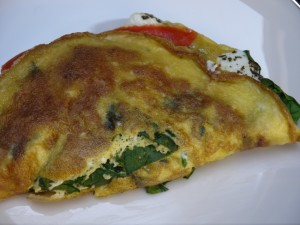 My favorite Saturday Spinach Salmon Omelet