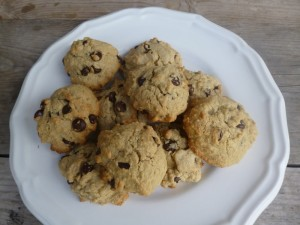gluten free chocolate chip cookies- yum, yum, super yum