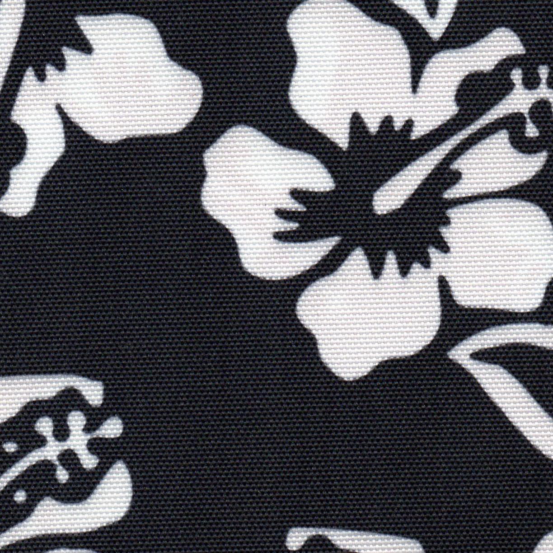 Hawaiian Print Black