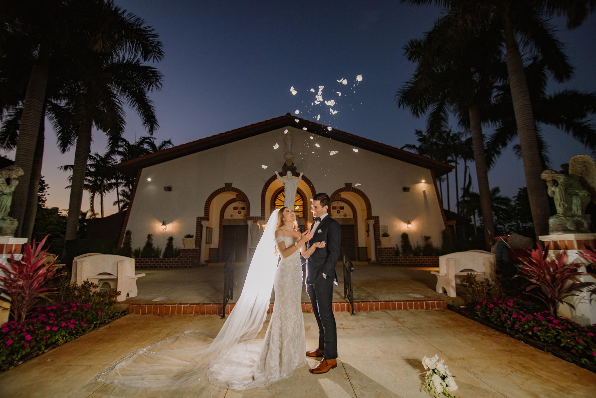 KELLEY + BLAKE ST RAYMOND CHURCH WEDDING:  LA JOLLA, CORAL GABLES, FLORIDA PHOTOGRAPHY