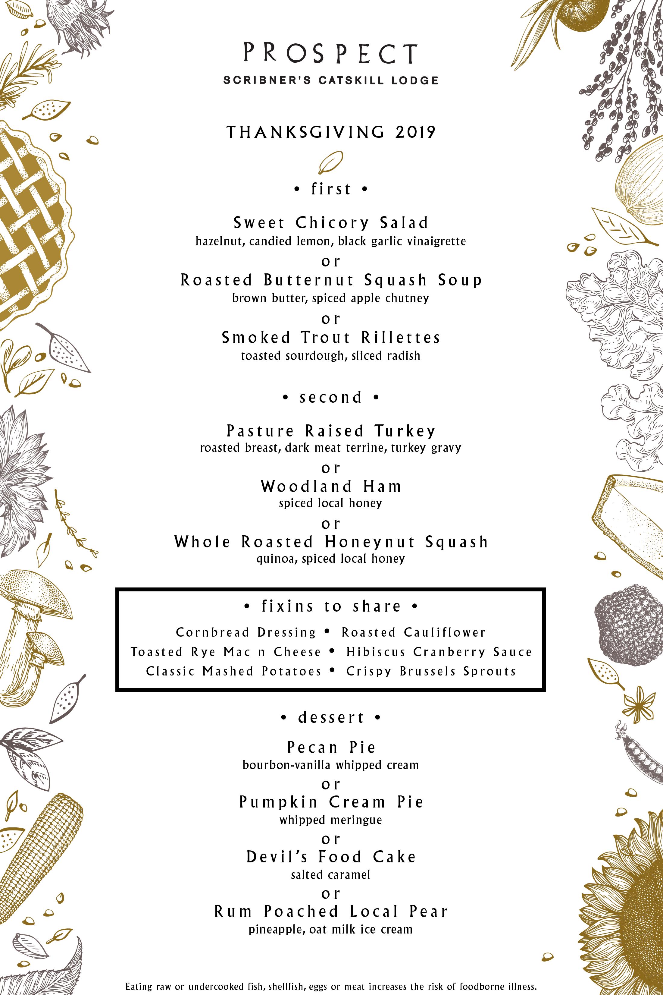 Thanksgiving Dinner Scribner S Catskill Lodge