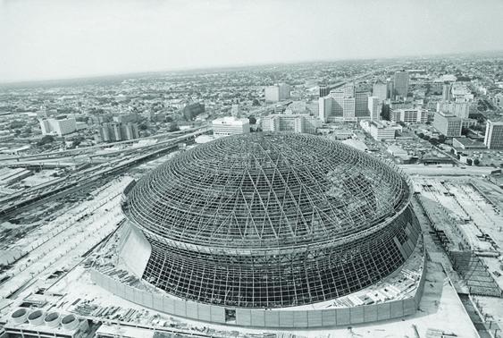 August 12, 1971. Superdome Breaks Ground