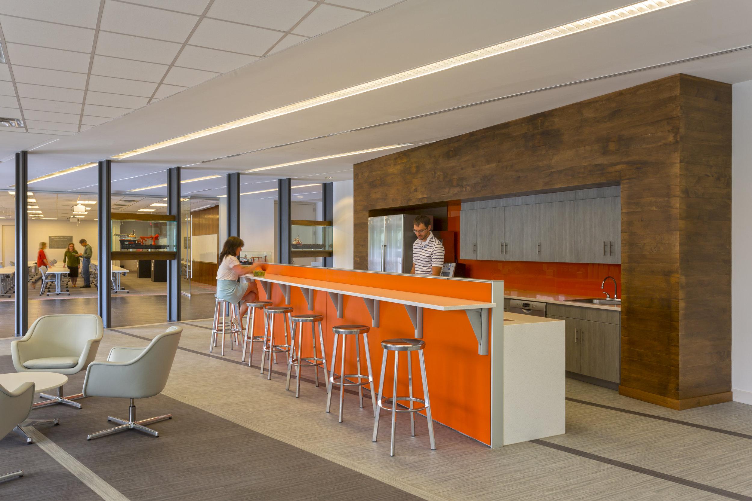 Hornbeck Offshore's new lunchroom