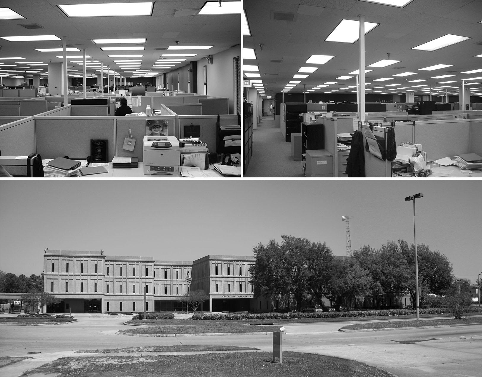 Pre-renovation state of the Lamar Advertising Headquarters building.  Photographer: Tim Hursley