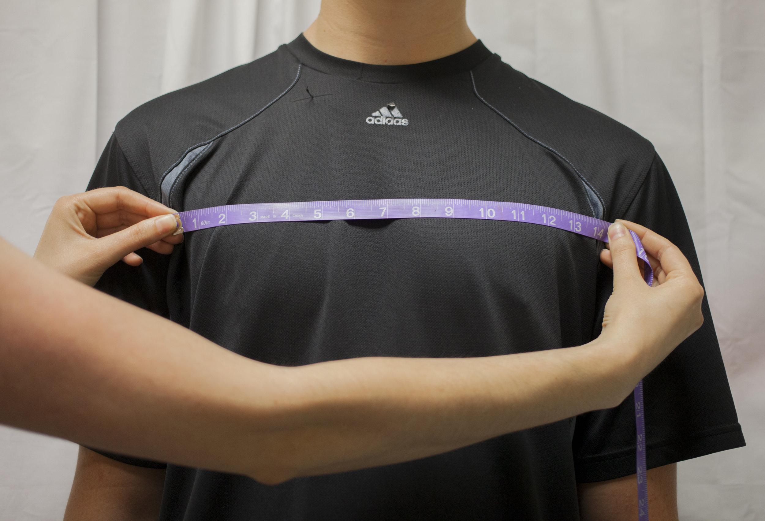 6. Sleeve Seam to Sleeve Seam (Front)
