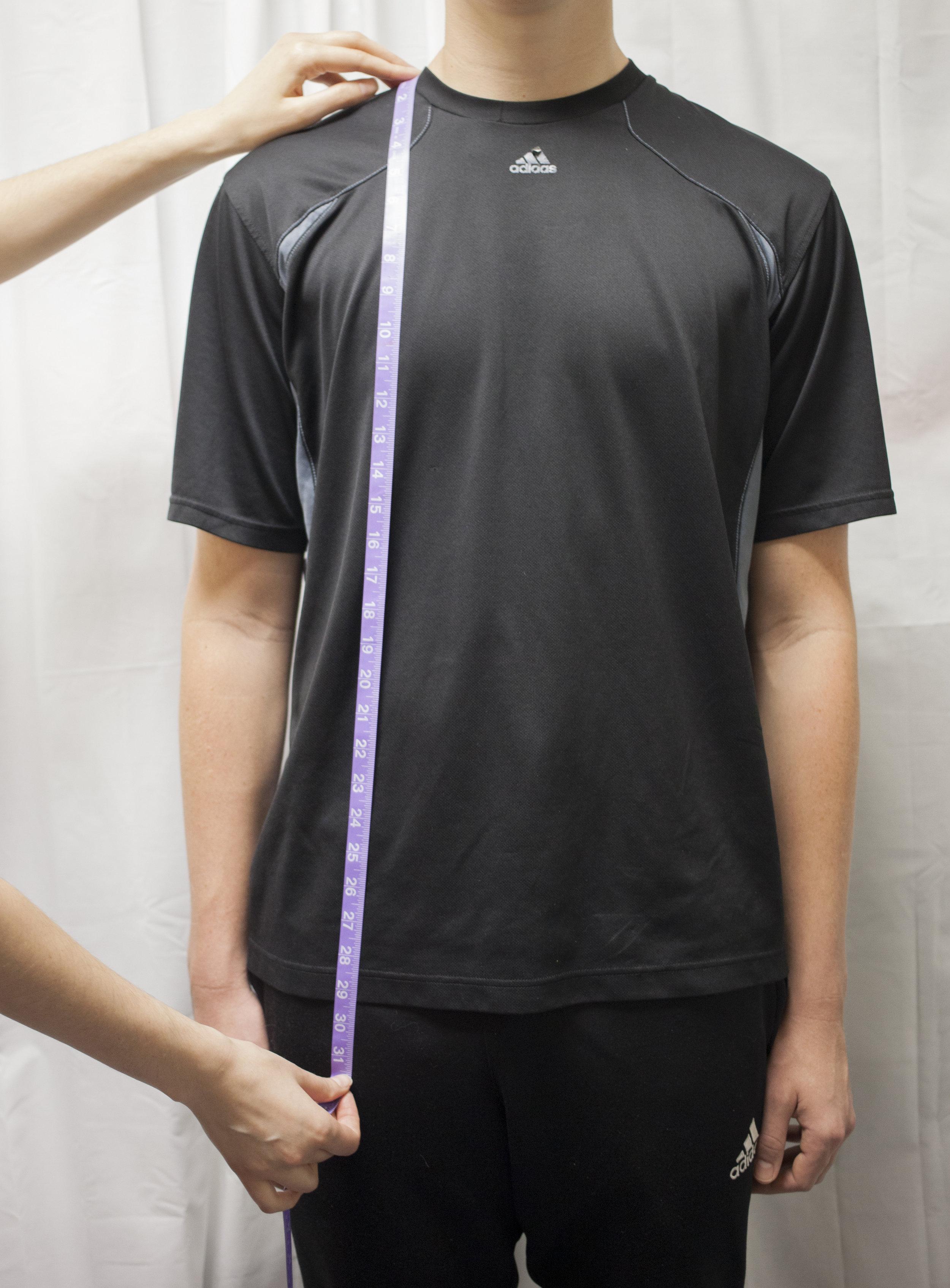 8. Shoulder to Hem (Front)