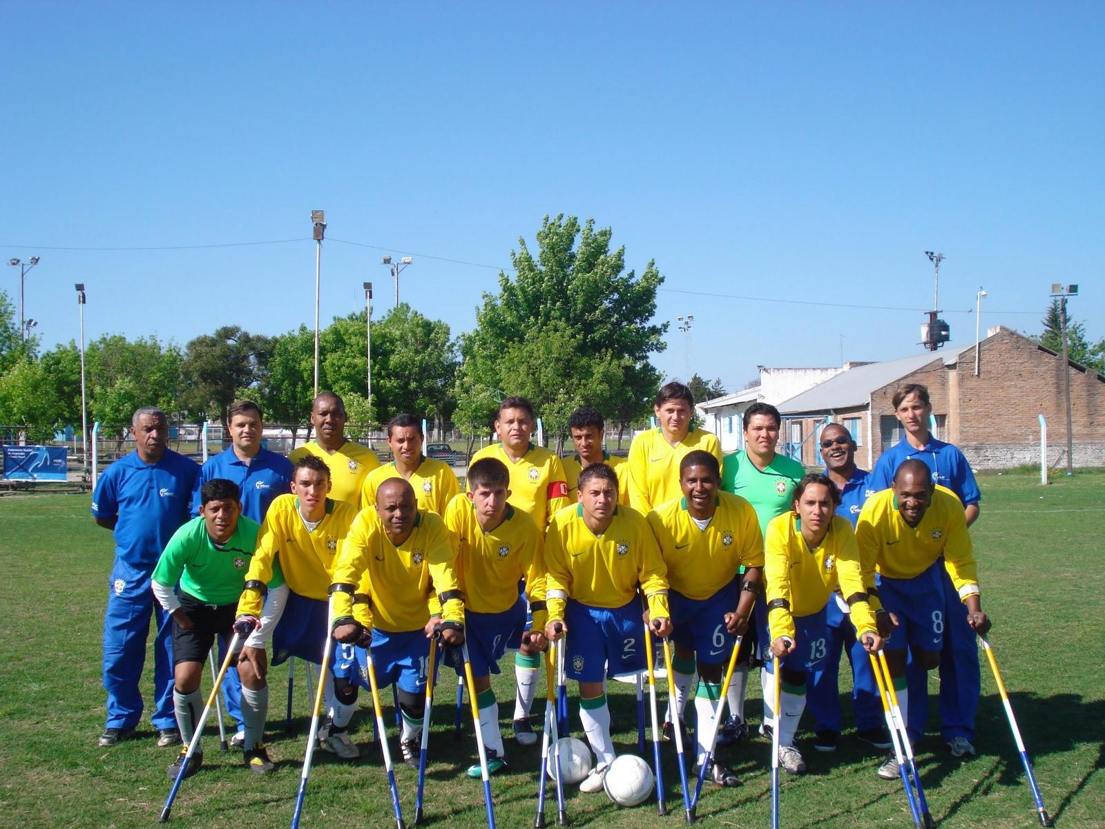 Equipe da Seleção Brasileira de Futebol de Amputados. Equipe vai em busca de título inédito na disputa da XV Copa do Mundo de Futebol de Amputados. Competição acontece em outubro deste ano, em Guaralajara, no México.