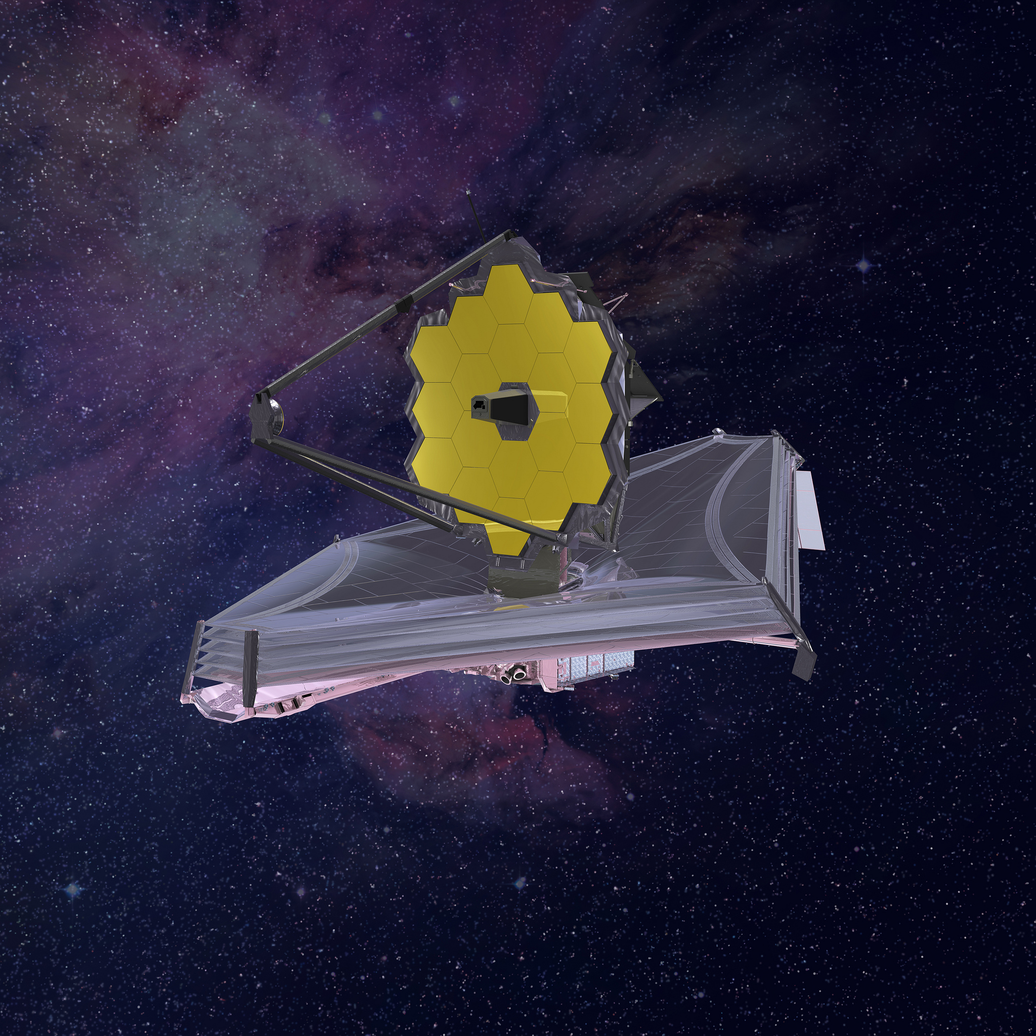 James Webb Space Telescope Artist Conception.Source: NASA,Image credit: Northrop Grumman