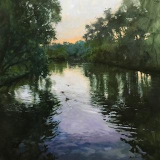 Ducks on Audubon Lagoon  Artist Billy Solitario