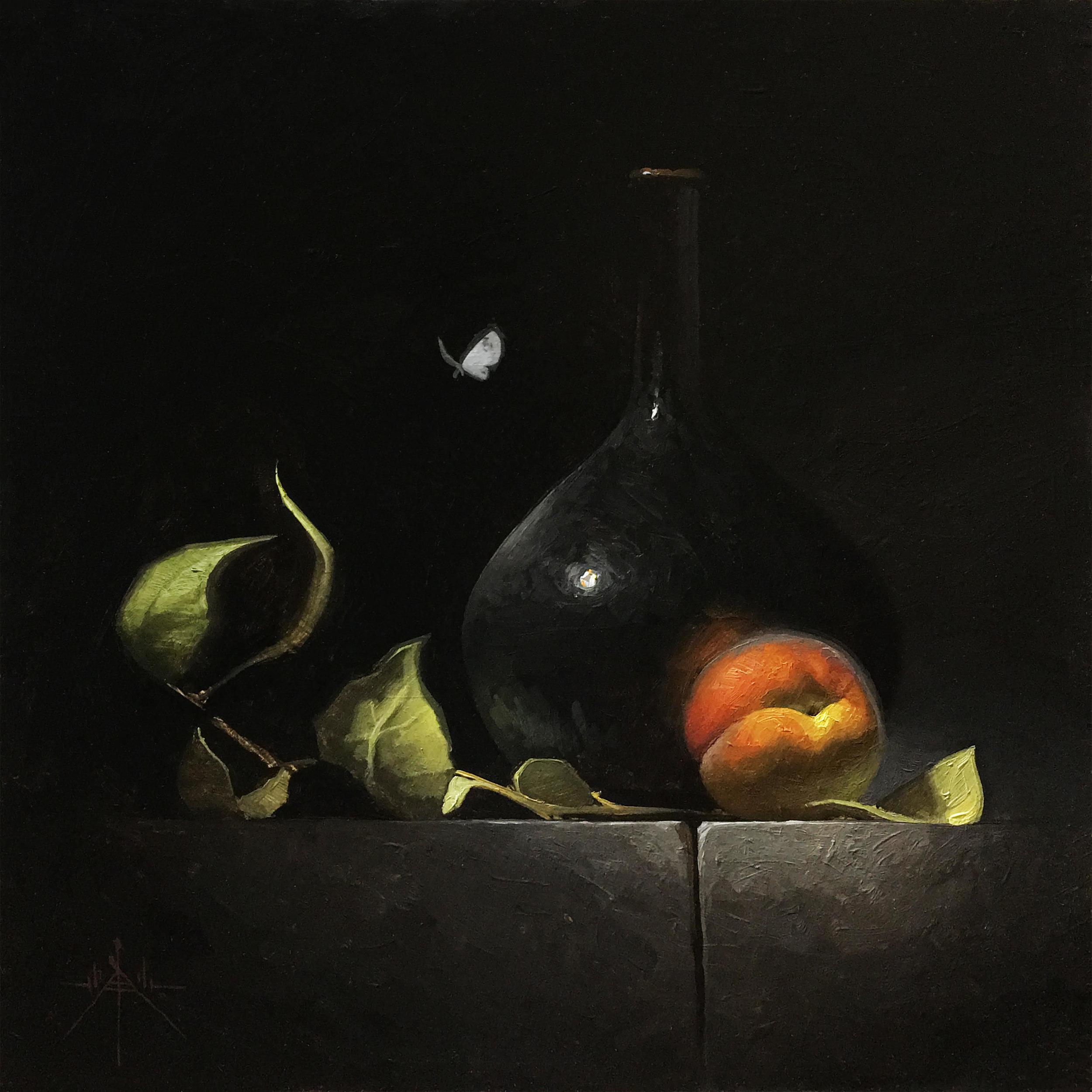 Peach and Dark Vessel by artist Blair Atherholt