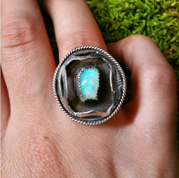 Opal Shadowbox Ring