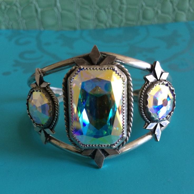 Sterling Silver Swarovski Cuff