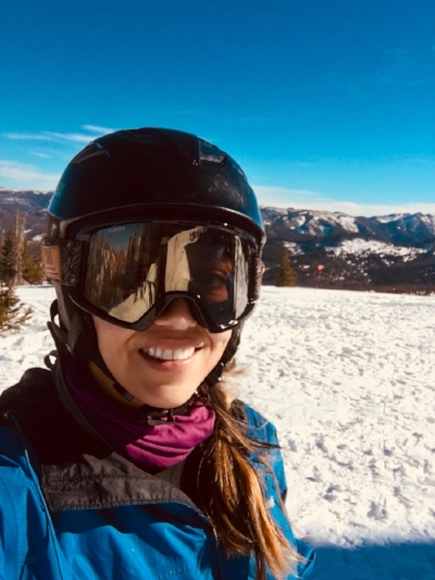Skiing for the first time from the San Juan mountains in Colorado!