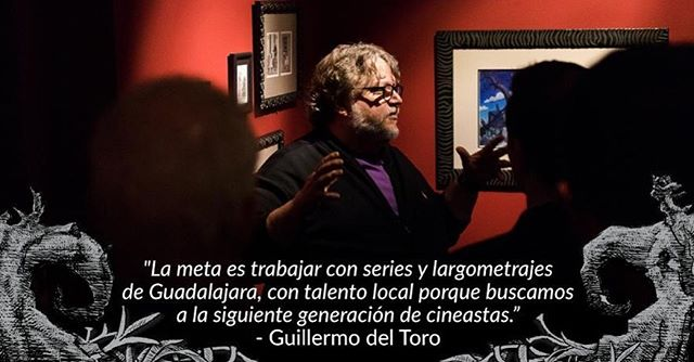 "🎥🎬🇲🇽 ""The goal is to work on series and feature films from Guadalajara, with local talent, because we're looking for the next generation of filmmakers"" — Guillermo del Toro  @realgdt #guilleromodeltoro #encasaconmismonstruos #eltallerdelchucho #screenwriting"