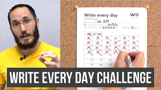 ▶️ NEW YOUTUBE VIDEO OUT! 🖊 How yo write every day?  Download the WRITE EVERY DAY CHALLENGE! • Link in bio YouTube.com/PietroSchito  #screenwriting #screenwritingtips #writeeverydaychallenge #writersblock #writesomethinggreat #pietroschito #writeeveryday #blankpagesyndrome #puertafilms #accountability #goalsetting #habits #habitforming