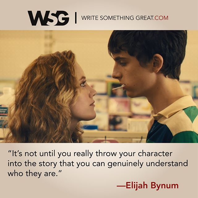 """""""It's not until you really throw your character into the story that you can genuinely understand who they are"""" -Elijah Bynum #Screenwriting #WriteSomethingGreat #WritingTips #ElijahBynum #HotSummerNights #TimotheeChalamet #MaikaMonroe #OneDollar"""