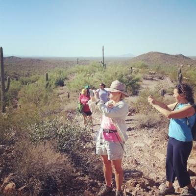 women on adventures photo op