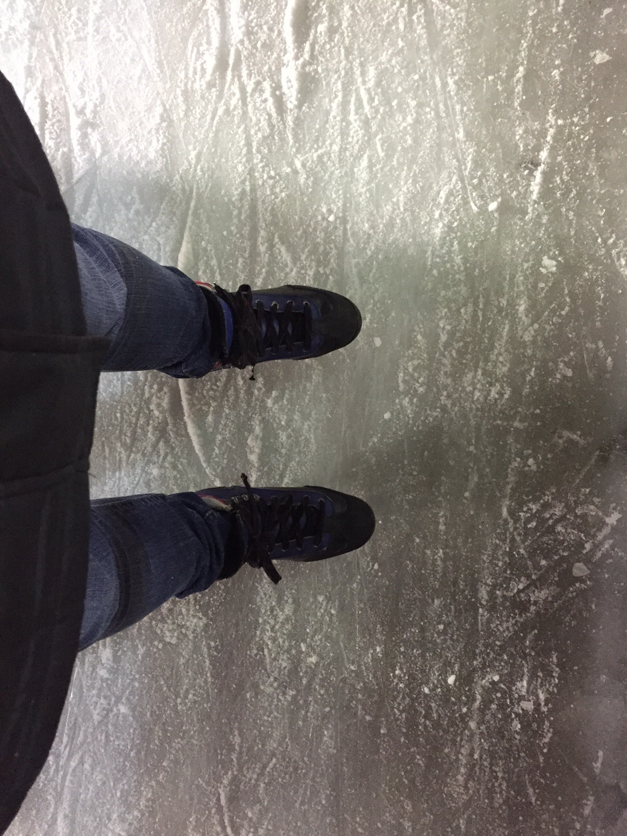 A fun way to enjoy the cold weather is to get on the ice and try out ice skating.