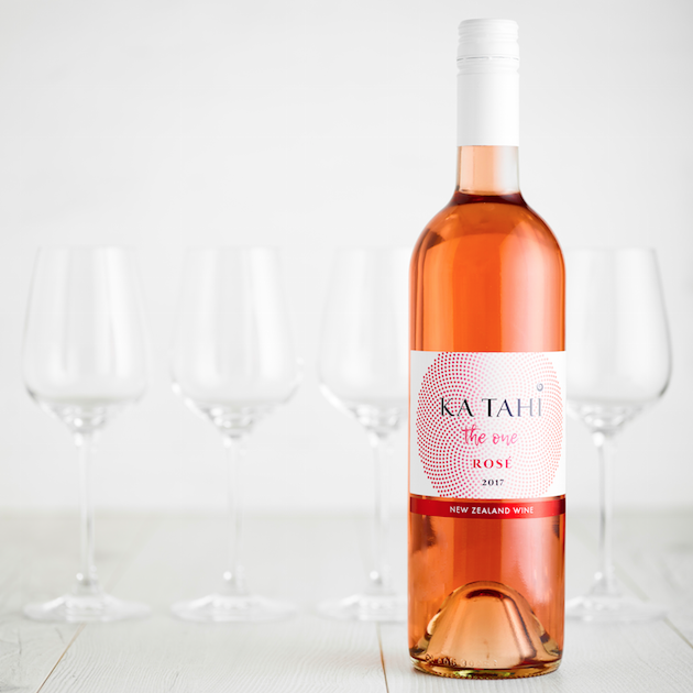 KA TAHI - ROSE WINE LABEL