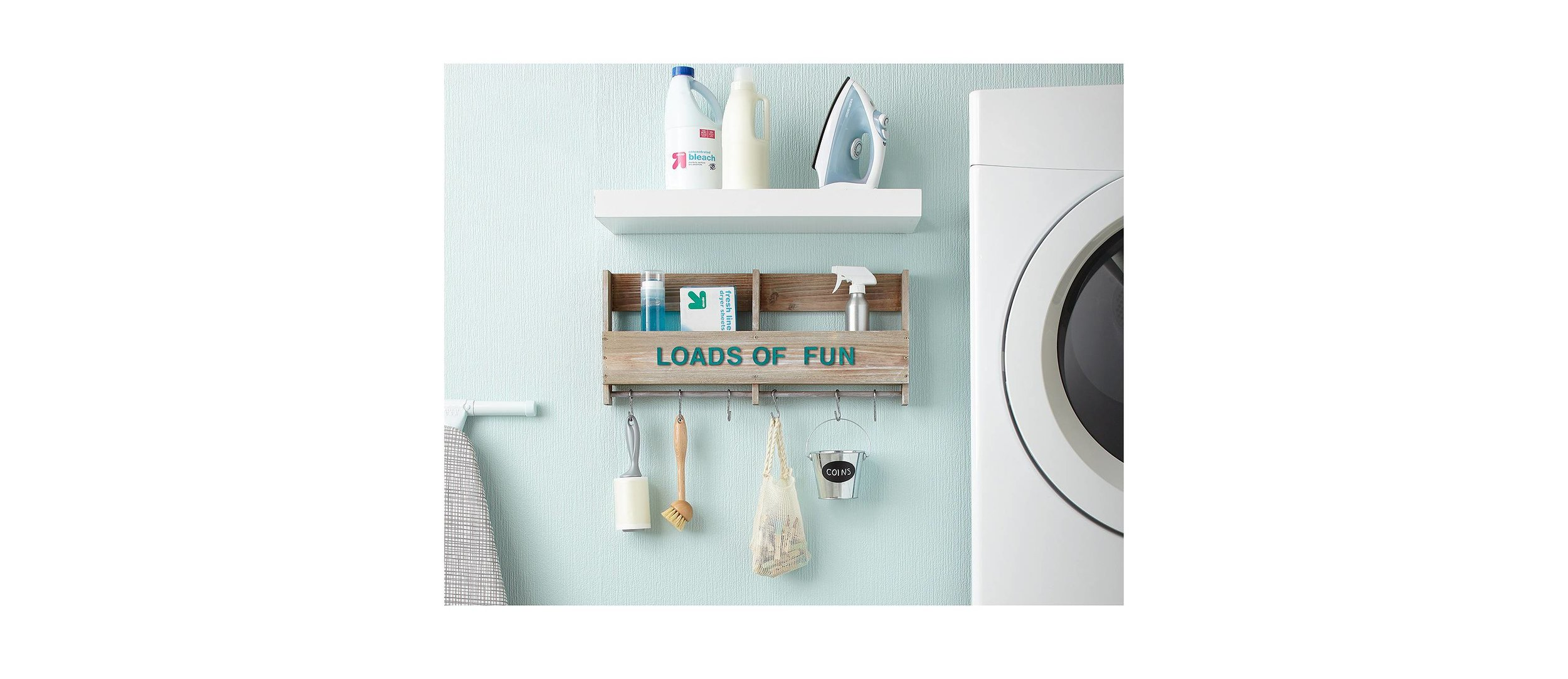 Great use of wall space in a laundry room. Photo:  Target.com