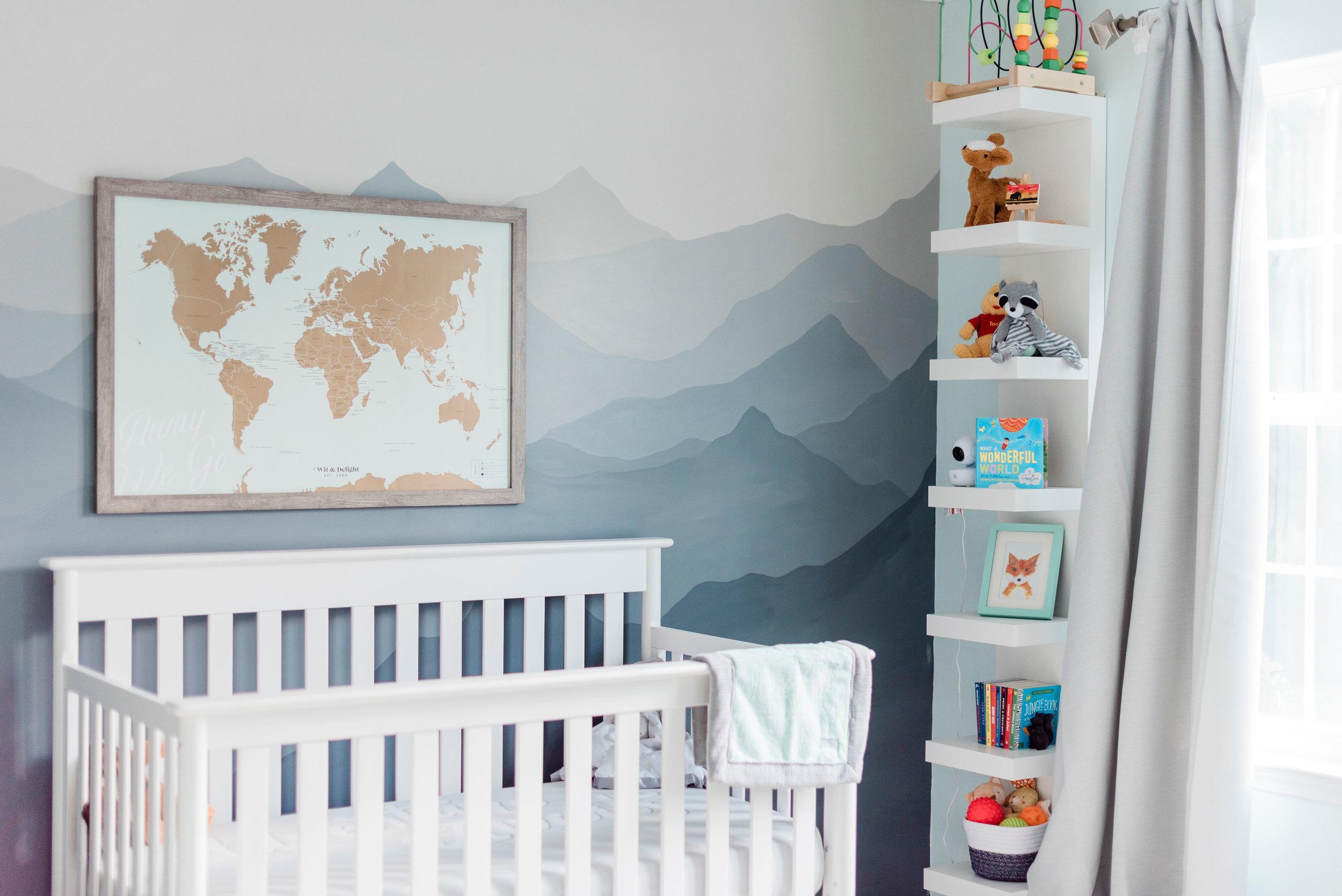 Shelves:  IKEA LACK Wall Unit