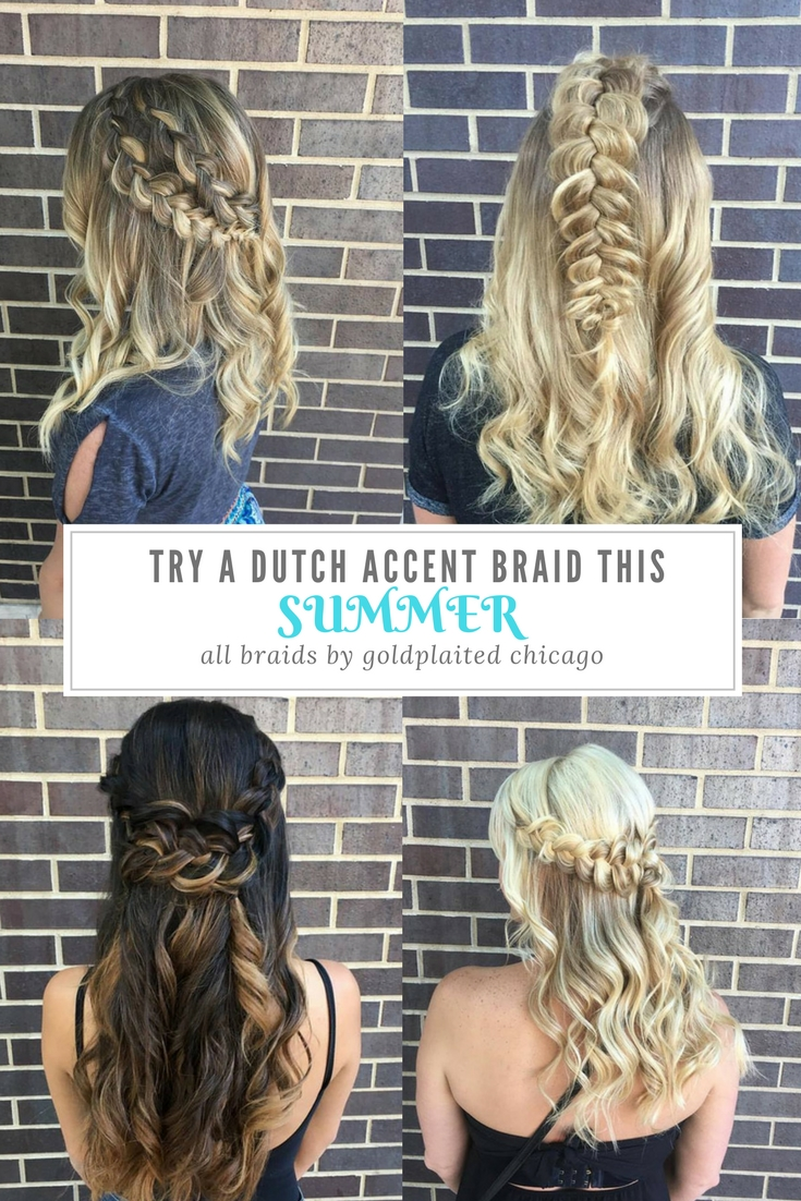 Try A Dutch Accent Braid This Summer-- Sometimes called inside out or reverse braids, Dutch braids are an easy + elegant way to add eye-catching detail to any summer hairstyle | hair by goldplaited