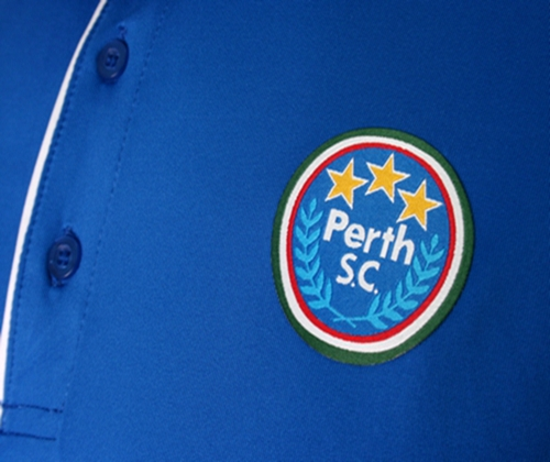 Perth S.C. Blue White and Yellow Baseball Uniforms, T-Shirts
